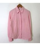 テンダンス パーレイビームス tendance par Ray BEAMS シャツ ブラウス 比翼 ボタン コットン 長袖 M ピンク