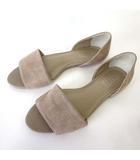 サンダル フラットシューズ スエードレザー M 23.5cm グレージュ くつ 靴 シューズ