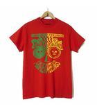 ネペンテス NEPENTHES DEAD FEELINGS Tシャツ カットソー 半袖 ポケット ポケT ロゴ スカル プリント M 赤 レッド USA製 正規品