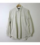 ロートレアモン LAUTREAMONT MEN メン シャツ ロゴ 長袖 コットン XL ライト ベージュ 大きいサイズ