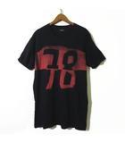ディーゼル DIESEL Tシャツ 半袖 ヴィンテージ プリント コットン M 黒 ブラック 赤 国内正規品