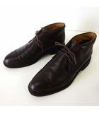 パラブーツ Paraboot ブーツ チャッカブーツ 本革 レザー UK 6 ダークブラウン こげ茶色 25.0cm 紳士 ビジネス くつ 靴 シューズ