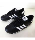 アディダス adidas ZX700 スニーカー シューズ レザー 27.0cm 黒 ブラック US 9 くつ 靴 G63499 美品