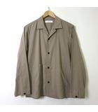 グリーンレーベルリラクシング ユナイテッドアローズ green label relaxing シャツ ジャケット オーバーサイズ 長袖 ライト コットン S グレージュ