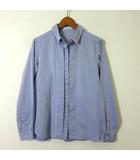 イエナ IENA シャツ ブラウス 長袖 ライト コットン 比翼ボタン 36 S 水色 サックスブルー 美品
