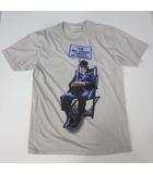 イマジナリーファンデーション THE IMAGINARY FOUNDATION Tシャツ カットソー 半袖 フォトプリント L ライトグレー USA製