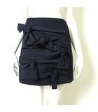 ティビ tibi スカート ミニスカート リボン フリル ストレッチ M 2 紺 ネイビー 美品