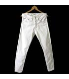 ポロ ラルフローレン POLO RALPH LAUREN パンツ デニムパンツ ホワイトデニム スリム フィット ボタンフライ W30 白 ホワイト 国内正規品