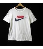ナイキ NIKE Tシャツ FCRB ロゴ 半袖 コットン L 白 ホワイト 国内正規品