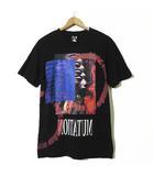 パム PAM Tシャツ 半袖 PEAKS AND MINI プリント コットン XS 黒 ブラック 小さいサイズ