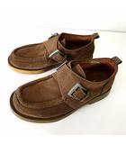 キスコ KISCO シューズ 革靴 モンクストラップ ブーツ 本革レザー 42 茶色 ブラウン 27.0㎝ くつ 靴