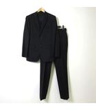 アール A.A.R ヨウジヤマモト ダーバン YOHJI YAMAMOTO D'URBAN スーツ セットアップ ストライプ ウール シングル 2B ジャケット テーパード パンツ S 黒 ブラック グレー