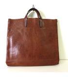バッグ ハンド トートバッグ レザー 牛革 茶 ブラウン かばん 鞄 カバン