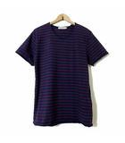 ノンネイティブ nonnative Tシャツ カットソー 半袖 カットオフ ボーダー M 2 紺 ネイビー エンジ