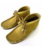 クラークス clarks ブーツ ワラビーブーツ 本革 スエード レザー 25.0㎝ マスタード イエロー くつ 靴 シューズ 小さいサイズ