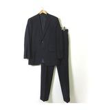 スーツ シングル セットアップ ウール ウインドペン チェック 2ボタン ジャケット パンツ M AB6 紺 ネイビー