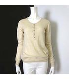 ニット セーター ウール 長袖 ヘンリーネック S ベージュ イタリア製 国内正規品