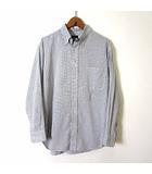 シャツ ボタンダウンシャツ 長袖 チェック柄 S 白 ホワイト 青 ブルー 赤 カーキ