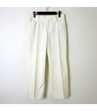 パンツ センタープレス ストレート ストレッチ L 3 オフ白 ホワイト