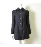 ミスクロエ miss chloe コート ステンカラーコート ウール 100% 長袖 L 40 チャコールグレー 国内正規品