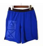 ハーフパンツ ショートパンツ SPEED WICK 速乾素材 ロゴ ウエストゴム 配色 スポーツ トレーニング XS 青 ブルー 小さいサイズ