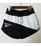 パンツ ショートパンツ ロゴ刺繍 配色 ウエストゴム スポーツ トレーニング S 黒 ブラック 白 ホワイト 国内正規品 美品