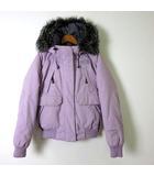 ザノースフェイス THE NORTH FACE ダウン ダウンジャケット ファーフード ジップアップ 長袖 XS ラベンダー 薄紫