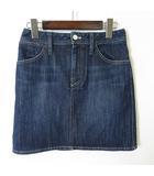 スカート デニムスカート バック ロゴ ハート 刺繍 ストレッチ L 40 インディゴブルー