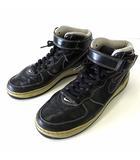エアフォース 1 AIR FORCE 1 MID スニーカー レザー 27.0cm 黒 ブラック くつ 靴 シューズ 313643-003 レア 希少