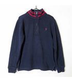 トレーナー リブ ハーフジップ ハイネック コットン ポニー 刺繍 長袖 130cm 7 紺 ネイビー 国内正規品