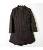 コート ジャケット 中綿 裏ノバチェック ジップアップ ハイネック 長袖 120 茶 ブラウン 子供服 女の子