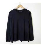 Tシャツ ロンT USA製 コットン ポケット 長袖 L 3 紺 ネイビー