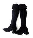 ペリーコ PELLICO ブーツ ロングブーツ ニーハイ 本革 スエード レザー 36 黒 ブラック 23.0㎝ くつ 靴 シューズ 美品