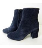 カルメンサラス Carmen Salas ブーツ ショートブーツ コーデュロイ スペイン製 37 紺 ネイビー 23.5㎝ くつ 靴 シューズ 国内正規品