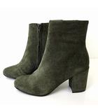 カルメンサラス Carmen Salas ブーツ ショートブーツ コーデュロイ スペイン製 37 カーキ 緑 グリーン 23.5㎝ くつ 靴 シューズ 国内正規品