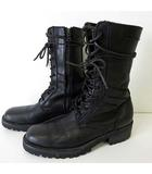 ballet ISAMUKATAYAMA BACKLASH イサムカタヤマバックラッシュ ブーツ レースアップ 本革レザー 23.5㎝ 黒 ブラック くつ 靴 シューズ