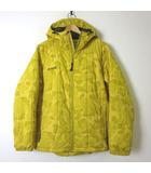 コロンビア Columbia ジャケット ブルゾン ナイロン 中綿 カモフラ 迷彩 ロゴ 刺繍 ジップアップ フード 長袖 M 黄 イエロー 国内正規品