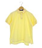ポロスポーツ POLO SPORT ラルフローレン トップス ポロシャツ 鹿の子 半袖 ロゴ 刺繍 ワンポイント イエロー 黄 M