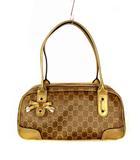 グッチ GUCCI ハンドバッグ ミニボストンバッグ ショルダーバッグ プリンシー 161720 GG柄 キャンバス レザー 鞄 カバン