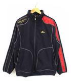 ミズノ MIZUNO PRO フリース ジャケット ブルゾン 上着 ジップアップ 刺繍 52LA-741 紺 赤 M