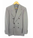 セオリー theory スーツ セットアップ 上下セット ダブル ストライプ 総裏 ウール グレー ピンク  サイズ38