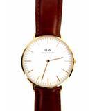 ダニエルウェリントン DANIEL WELLINGTON 腕時計 クォーツ アナログ B36R5 2針 レザーベルト ローズゴールド ブラウン 白文字盤