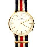 ダニエルウェリントン DANIEL WELLINGTON 腕時計 クォーツ アナログ 2針 0106DW 40mm ローズゴールド 白 ホワイト ナトーストラップ 替えベルト付き