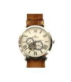 オロビアンコ OROBIANCO 腕時計 自動巻き タイムオラ ロマンティコ レザーベルト OR-0035N シルバー 白