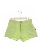 ダブルスタンダードクロージング ダブスタ DOUBLE STANDARD CLOTHING ショートパンツ コーデュロイ 綿 コットン ポリエステル 黄緑 イエローグリーン 蛍光色 サイズ38 タグ付き