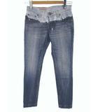 ダブルスタンダードクロージング ダブスタ DOUBLE STANDARD CLOTHING ラインブリーチ デニムパンツ ジーンズ スリム ストレート ブリーチ加工 USED加工 2604241 インディゴ ライトインディゴ サイズ32