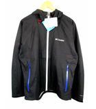 コロンビア Columbia ライト クレスト ジャケット LIGHT CREST JACKET ナイロン PM3434 -010 パーカー ジップアップ OMNI-TECH 黒 ブラック サイズL タグ付き アウトドアウェア ACTIVE FIT