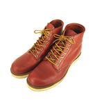 レッドウィング REDWING CLASSIC PLAIN TOE ワーク ブーツ 靴 レザー プレーントゥ レースアップ 8166 赤茶 26cm D