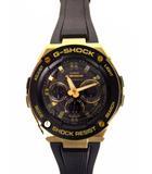 カシオジーショック CASIO G-SHOCK Gショック 腕時計 ウォッチ GST-W300G-1A9JF G-STEEL Gスチール 電波ソーラー デジアナ アナデジ 黒 金 ブラック ゴールド