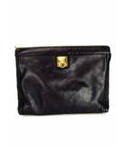 セリーヌ CELINE セカンドバッグ クラッチバッグ レザー 革 カバン 鞄 黒 ブラック